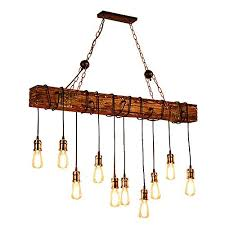 Island lighting fixtures Modern Kitchen Ladiqi 10lights Wooden Island Chandelier Retro Rustic Pendant Lighting Lamp Multiple Adjustable Hanging Ceiling Amazoncom Rustic Island Lighting Amazoncom