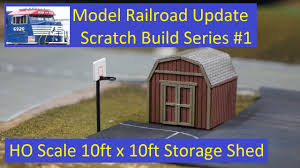 scratch build 1 10ft x10ft storage shed