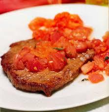 sirloin steaks with tomato garlic sauce recipe