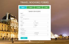 Travel Booking Forms A Flat Responsive Widget Template