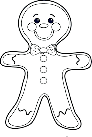 Coloring Pages Gingerbread Man Free Colouring Printable Page Template