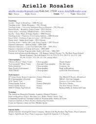 Dance Resume Template Free Free Resume Example And Writing Download