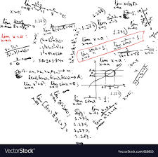 Heart Shape With Math Formulas