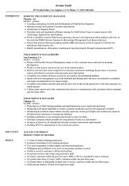 Field Service Manager Resume Samples Velvet Jobs