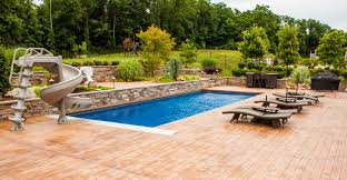 concrete stained patio deck swimming