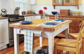 Kitchen Chopping Block Table How To Build A Butcher Block Counter Island This Old House