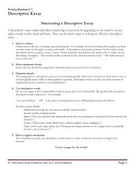 Description Essay Guidelines Doc