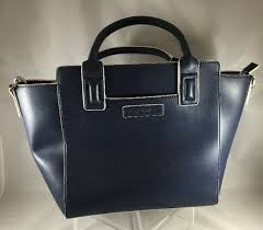 vera bradley satchel classic navy faux leather bag new with tags v03