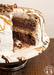 chocolate cake with vanilla ice cream. Modren Cake Touchdown Butterfinger Cup Ice Cream Cake  This Delicious And Easy Ice  Cream Cake Is Time To Chocolate With Vanilla C