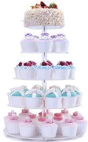 wedding cupcake stands. Unique Stands BonNoces 5 Tiers Round Acrylic Pastry Wedding Cupcake Stands Tower Tree CarrierClear With A