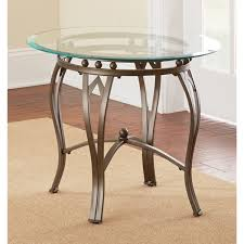 maison glass top round end table by greyson living free with regard to tables plans 10