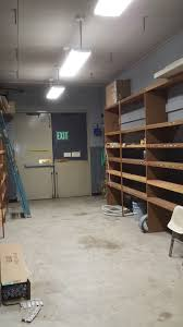 office storage room. Office Storage Lighting Before LED Fixtures After Room O
