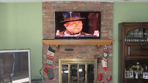 full image for mounting tv above brick fireplace 135 cute interior and mount tv to brick