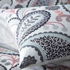 pieridae paisley duvet quilt bedding cover and pillowcase shell pink bedding set duvet sets complete bedding sets bed sheets pillowcase