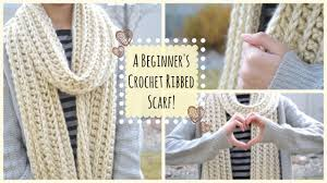 Ribbed Scarf Pattern Delectable How To Crochet A Beginner's Ribbed Scarf Ms Craft Nerd YouTube