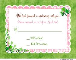 Girl RSVP Card  Matching InvitationsReply To Baby Shower Invitation