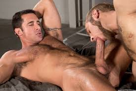Hairy hunks sucking cock