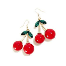 18K Gold Plated Vintage Red Big cherry Charm& ... - Amazon.com