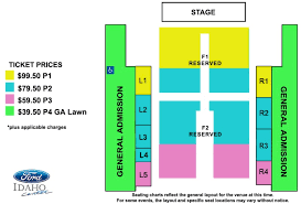 Seating Chart Ford Idaho Center Events Bryan Adams Shine A Light Tour Ictickets