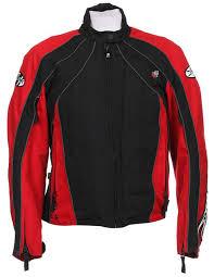 joe rocket red black mesh motorcycle jacket l