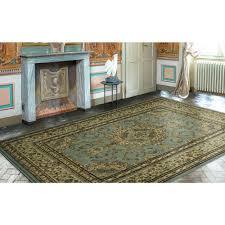 blue medallion rug threshold and white jackson e area 7x9