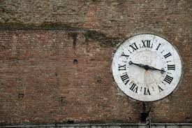 wood clock number old wall decor wall clock brick wall roman man made object