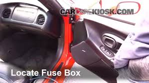 interior fuse box location 1997 2004 chevrolet corvette 2002 2000 Chevy Corvette Fuse Box Location locate interior fuse box and remove cover 2000 chevy corvette fuse box location