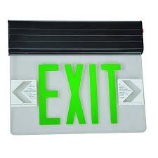 Edge Lit Exit Light Led Surface Mounted Exit Sign Edge Lit Double Sided 120 277v Morris