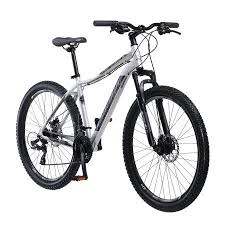 27 5 Inch Schwinn Aluminum Comp Mens Mountain Bike Silver
