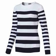 discontinued puma nautical sweater bright white peacoat xs womens
