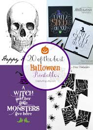 Print them on colored cardstock, and they'll look even better than the plain white. Printable Halloween Decorations Capturing Joy With Kristen Duke