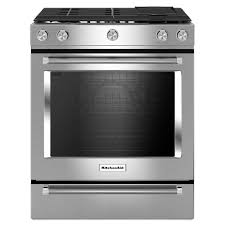 stove 30. kitchenaid 30 in. 7.1 cu. ft. slide-in dual fuel range with stove
