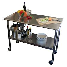 Kitchen Work Table Wood Outdoor Stainless Prep Island Kitchen Work Tables And Islands