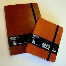 monsieur notebook leather sketchbook tan a6 portrait the ultimate art sketch book