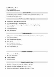 Latest Resume Format For Bba Freshers Download Resume