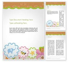 Cute Template Cute Word Templates Design Download Now Poweredtemplate Com