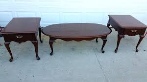 cherry wood end tables and coffee tables stylish cherry wood 3 piece coffee end table set