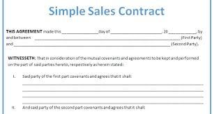 Property Sales Contracts Amazing Used Car Sale Agreement Format For Selling A Letter Pre Contract