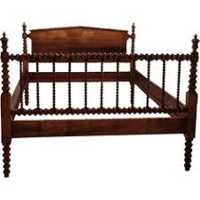wood spindle bed. Modren Bed This Gorgeous Bed Frame Is A True Jenny Lind Style Spindle Bed With Angled  Corners And Beautiful Dark Wood Mid Looks The Closest To What I Remember  To Wood Spindle Bed