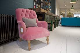 Dusty Pink Velvet Flump Bedroom Chair