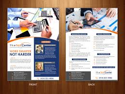 Tax Flyer Design Tax Center Flyer To Attract Clients 43 Flyer Designs For A