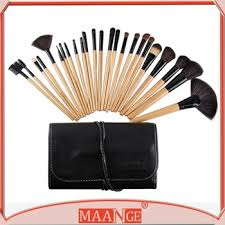maange 24 piece nylon hair natural wood handle make up brushes made in guangzhou china best