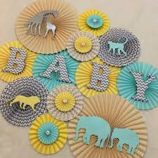 paper fan backdrop. safari themed paper fan backdrop