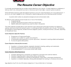 Objective On Resume Resume Objective For Career Change Templates Template Striking Job 59