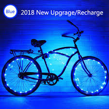 Bike Tire Lights Ledmei Led Bike Wheel Light Rechargeable Waterproof Bicycle Tire Light Strip Safety Spoke Lights Cool Bike Accessories Light Up Wheels Lightweight 2