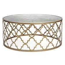 gold quatrefoil pattern coffee table in ideas 8