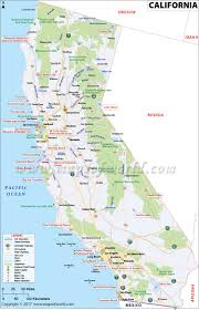 california map map of california (ca)