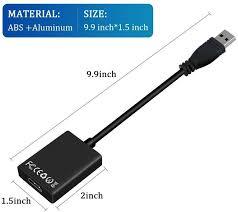 Cáp chuyển USB ra HDMI có âm thanh UTH1080 - FullHD (Đen) - Cáp HDMI -  Displayport Thương hiệu OEM