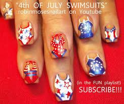 Robin Moses Nail Art: 4th of july nails, swim suit nail art ...