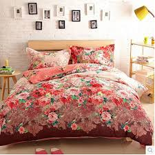 Affordable Discount Red Floral Full Size Comforter Sets ... & Affordable Discount Red Floral Full Size Comforter Sets Adamdwight.com
